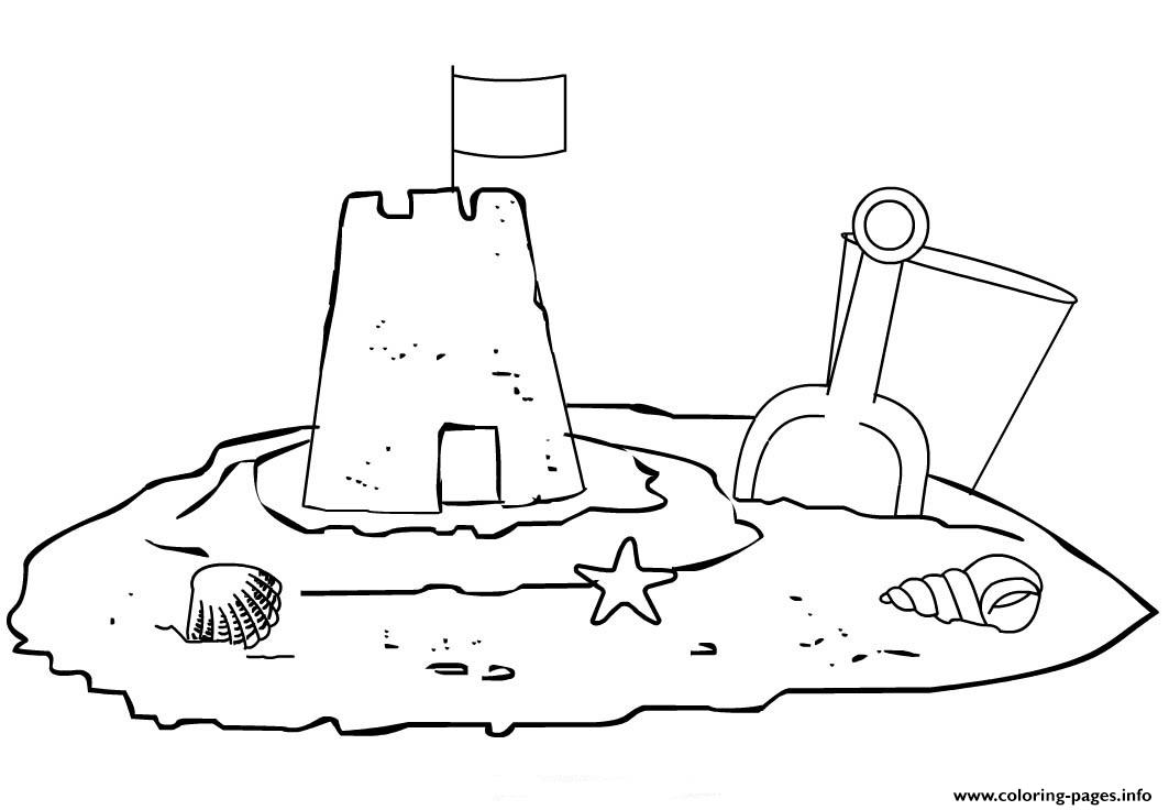 Kids Sand Castle Adf6 Coloring Pages Printable
