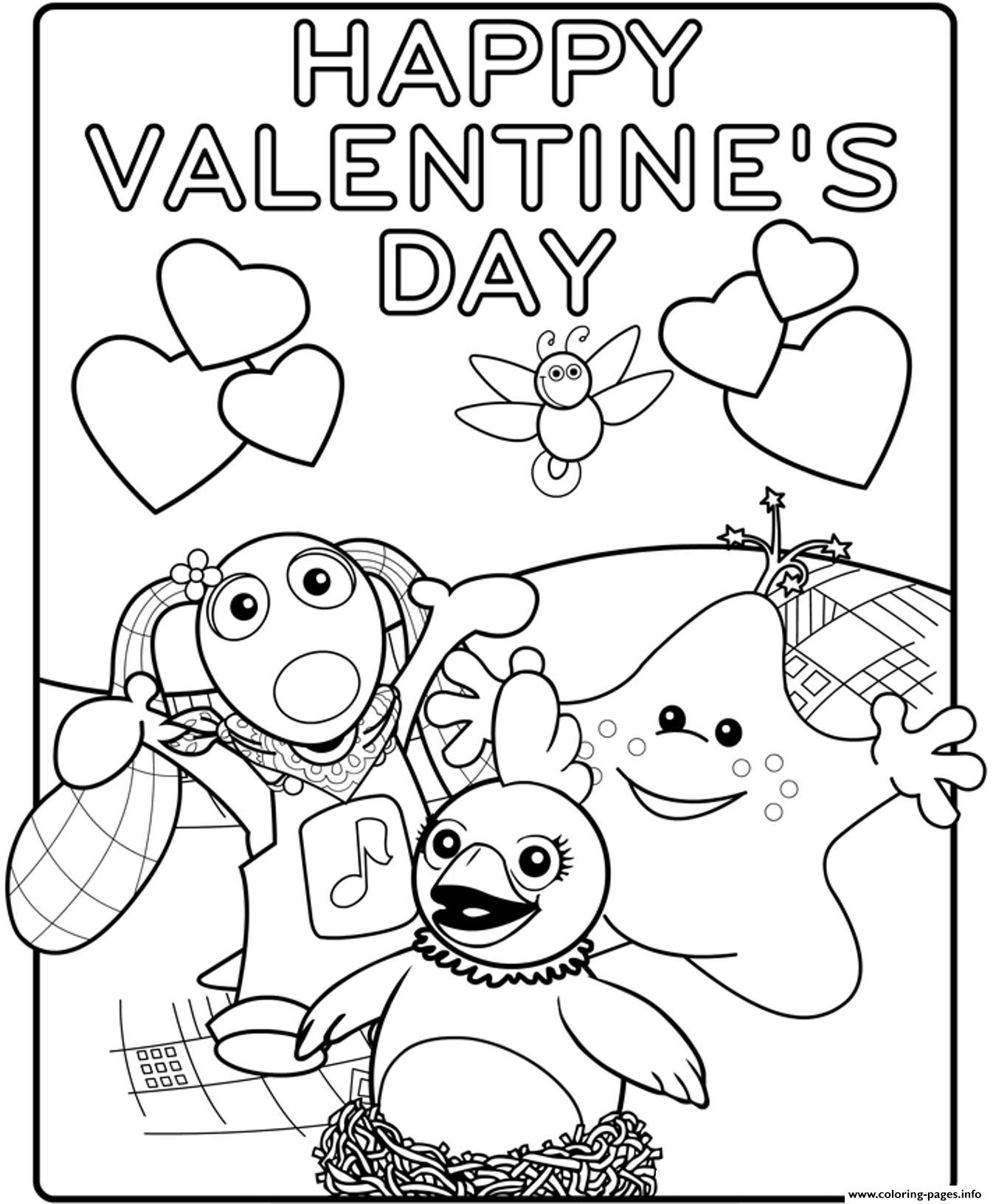 Kids Happy Valentines Day S18b3a Coloring Pages Printable