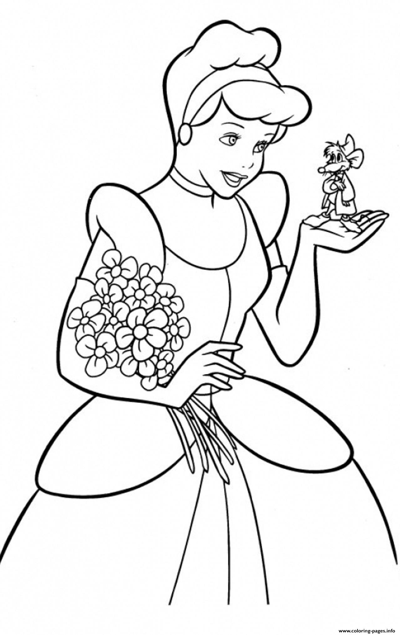 Princess Free Cinderella S For Kids9102 Coloring Pages ...