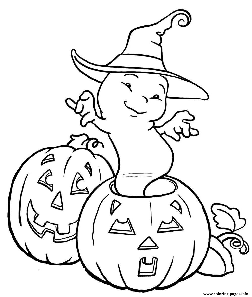 Halloween Ghost And Pumpkin S Kidseade Coloring Pages ...