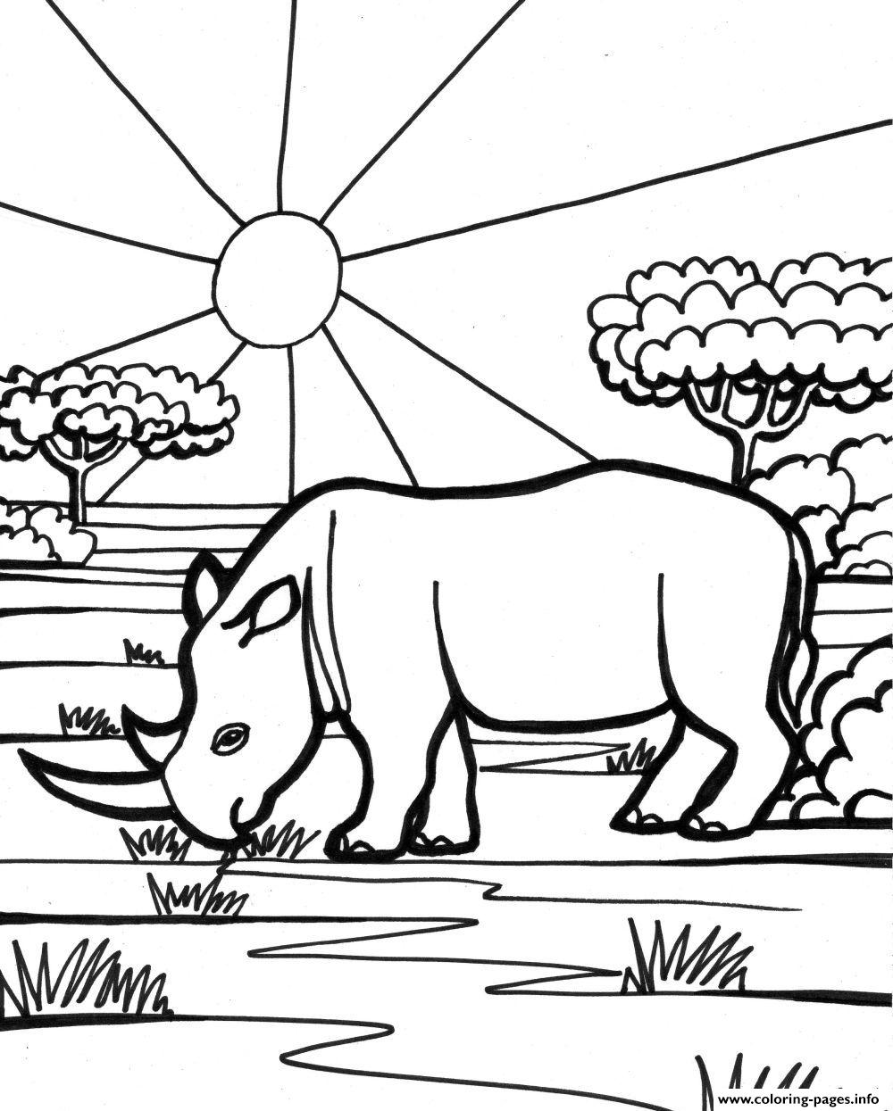 Rhino Free Animal S For Kids0897 Coloring Pages Printable