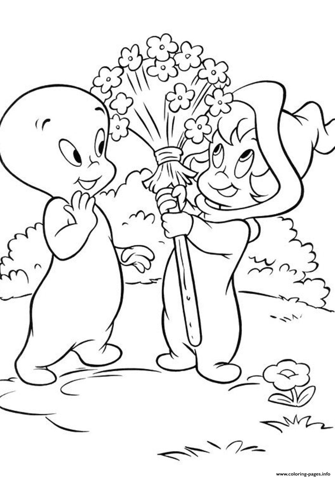 Casper Ghost S For Kids2a23 coloring pages