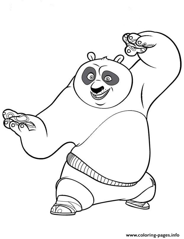 Coloring Pages For Kids Kung Fu Panda Poa5bb Print Download