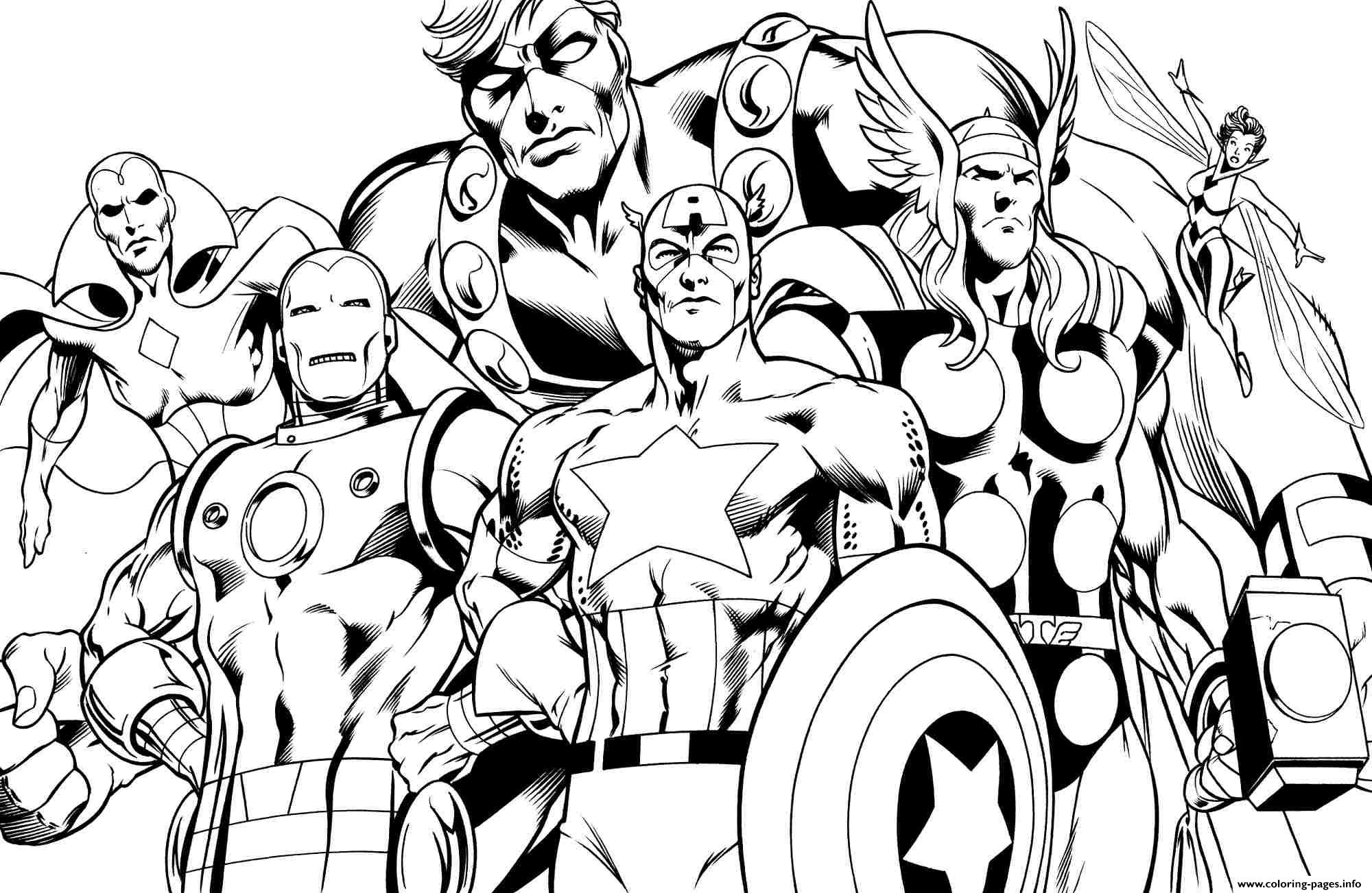 Superhero Avengers Sheets Little Kids Coloring Pages