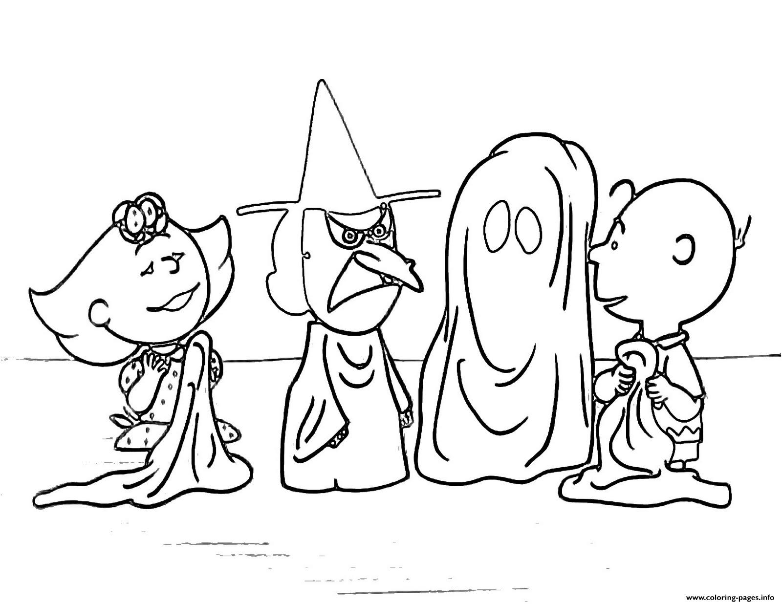 Charlie Brown Halloween S For Kidsc4d7 Coloring Pages Printable