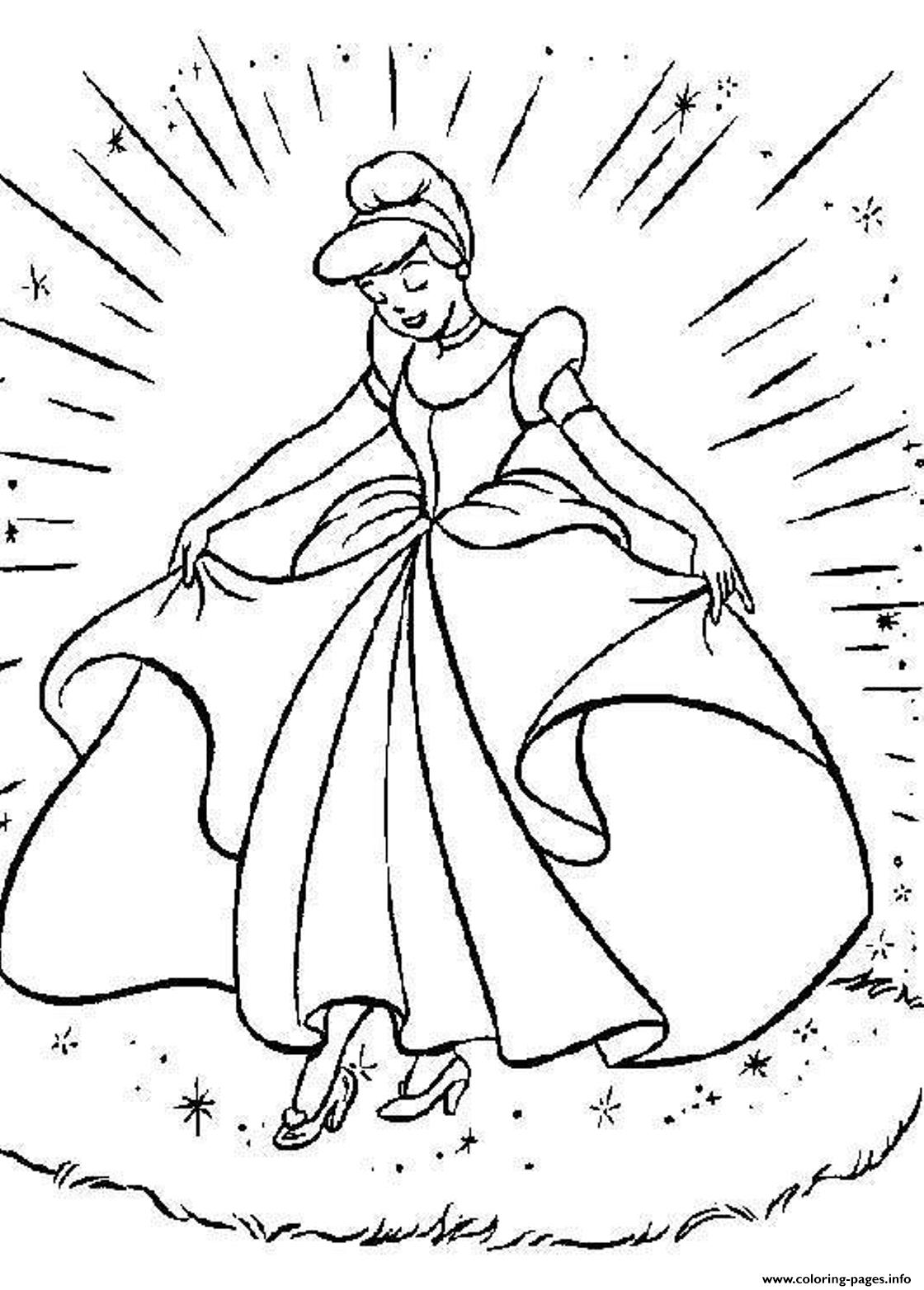 Princess Cinderella S For Kids Free87c2 Coloring Pages Printable