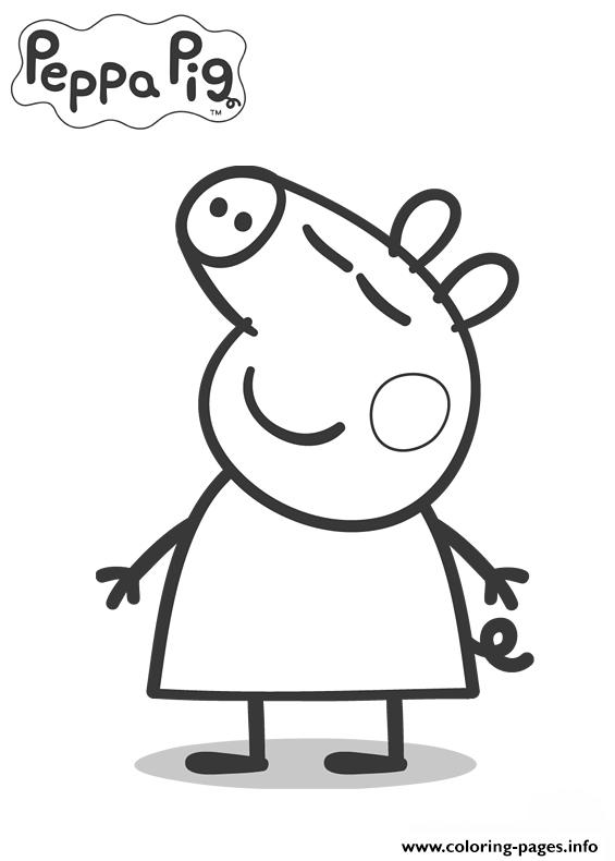 Kids Peppa Pig Coloring In Pagese244 Coloring Pages Printable