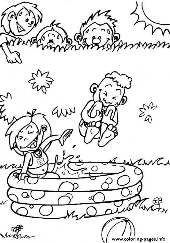 Coloring Pages For Kids In The Summer Playing Water39ca Coloring