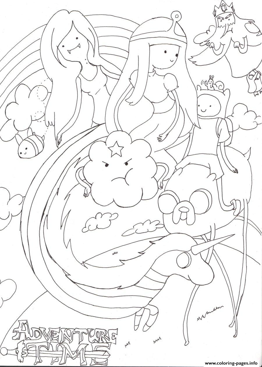 Kids Adventure Time Sdedb Coloring Pages Printable