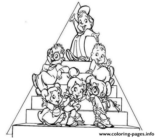 Alvin And The Chipmunks Coloring Pages Printable