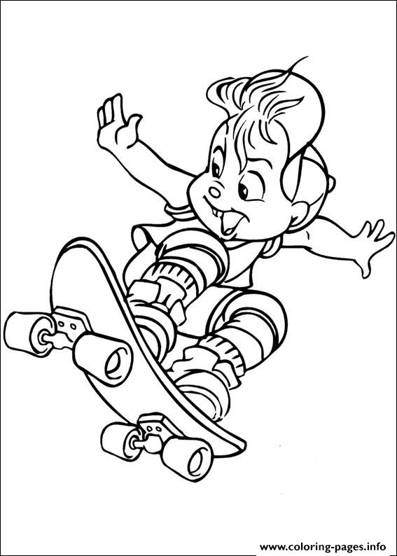 Alvin Chipmunks 02 coloring pages