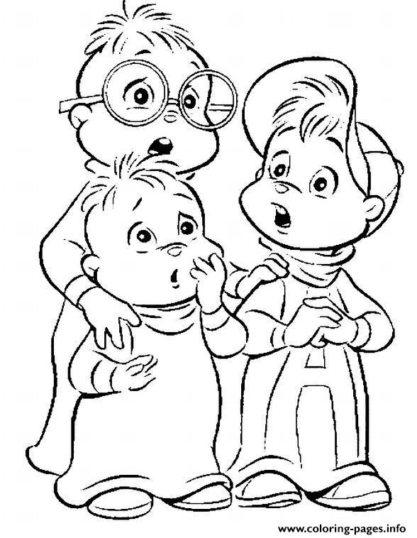 coloring pages of alvin and the chipmunks Coloring pages Printable