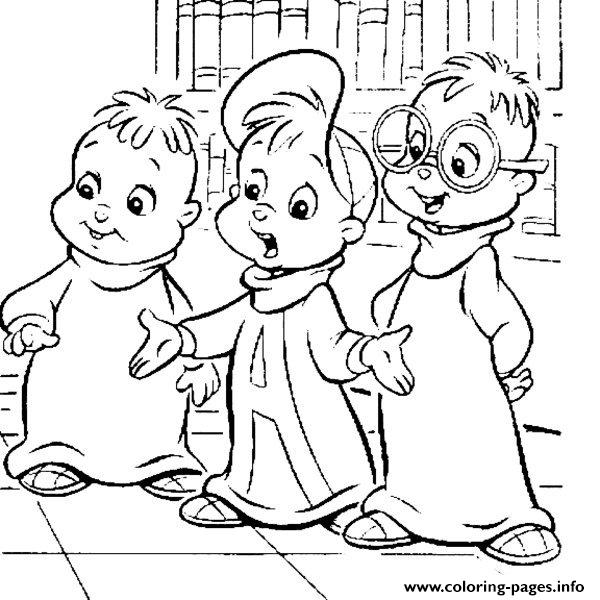 Alvin And The Chipmunks Cartoon Coloring Pages Printable