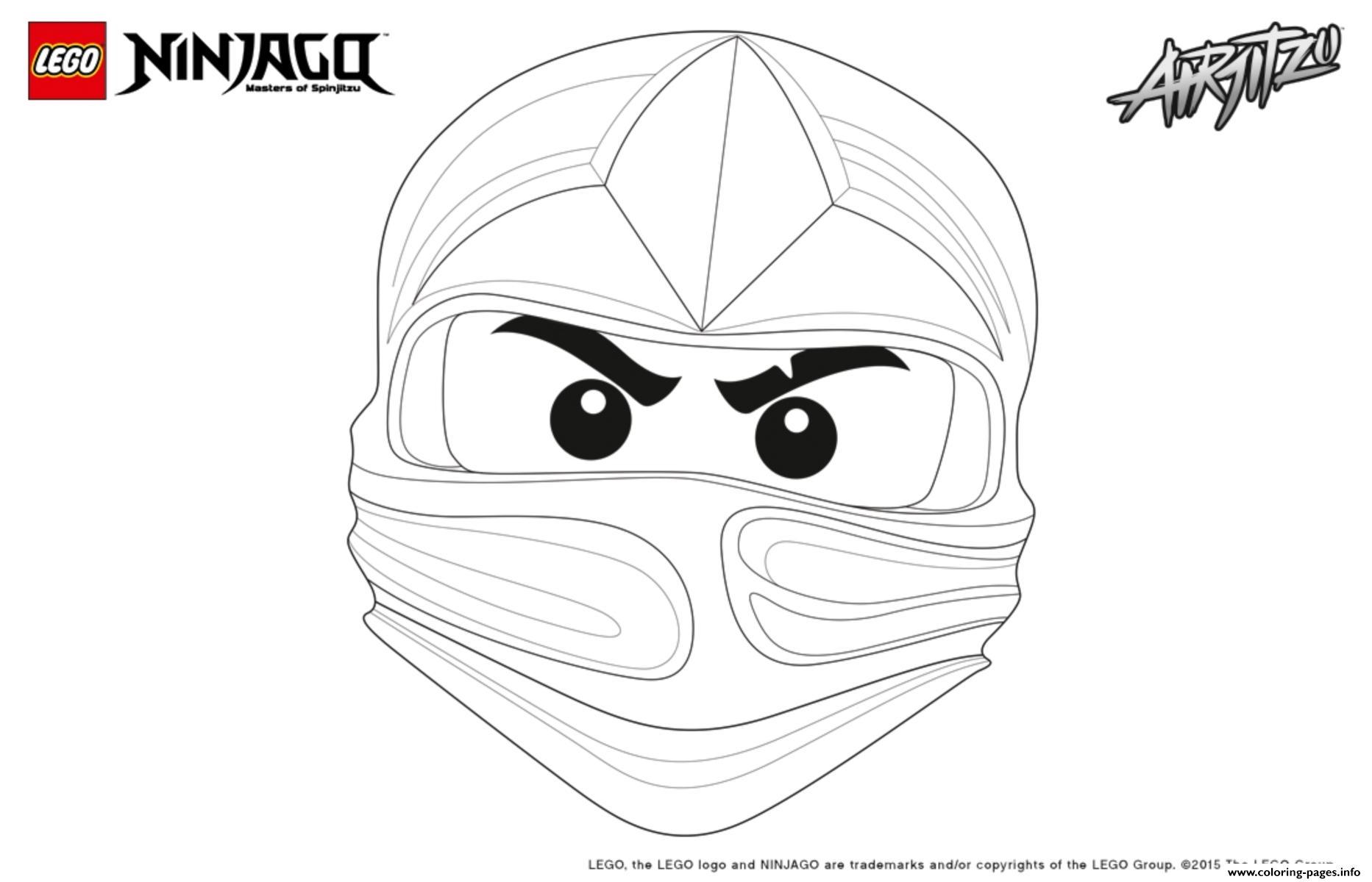 Ninjago Lego Kai Coloring Pages Printable