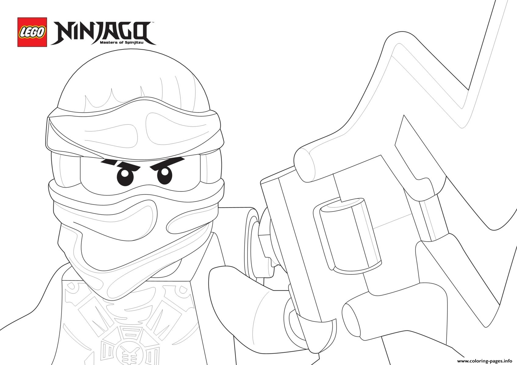 picture ninjago face coloring pages printable