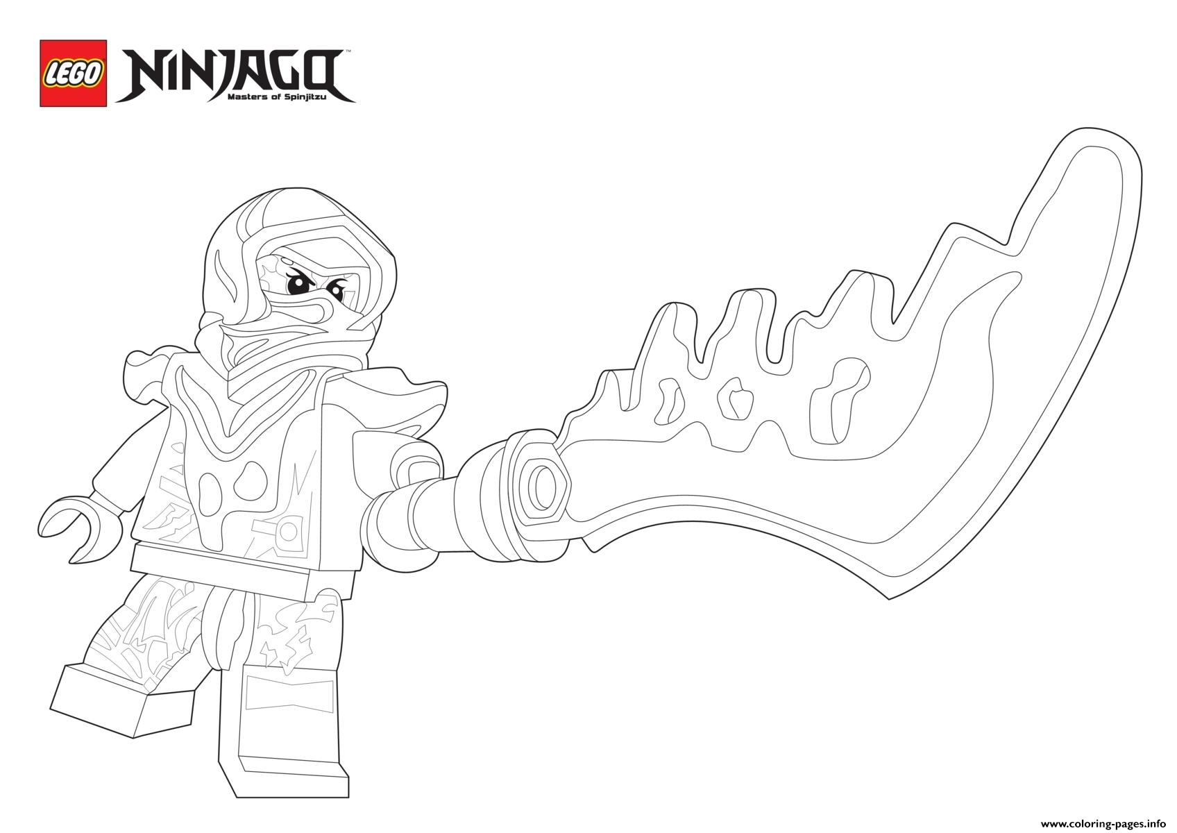 Nya Ninjago Sword coloring pages