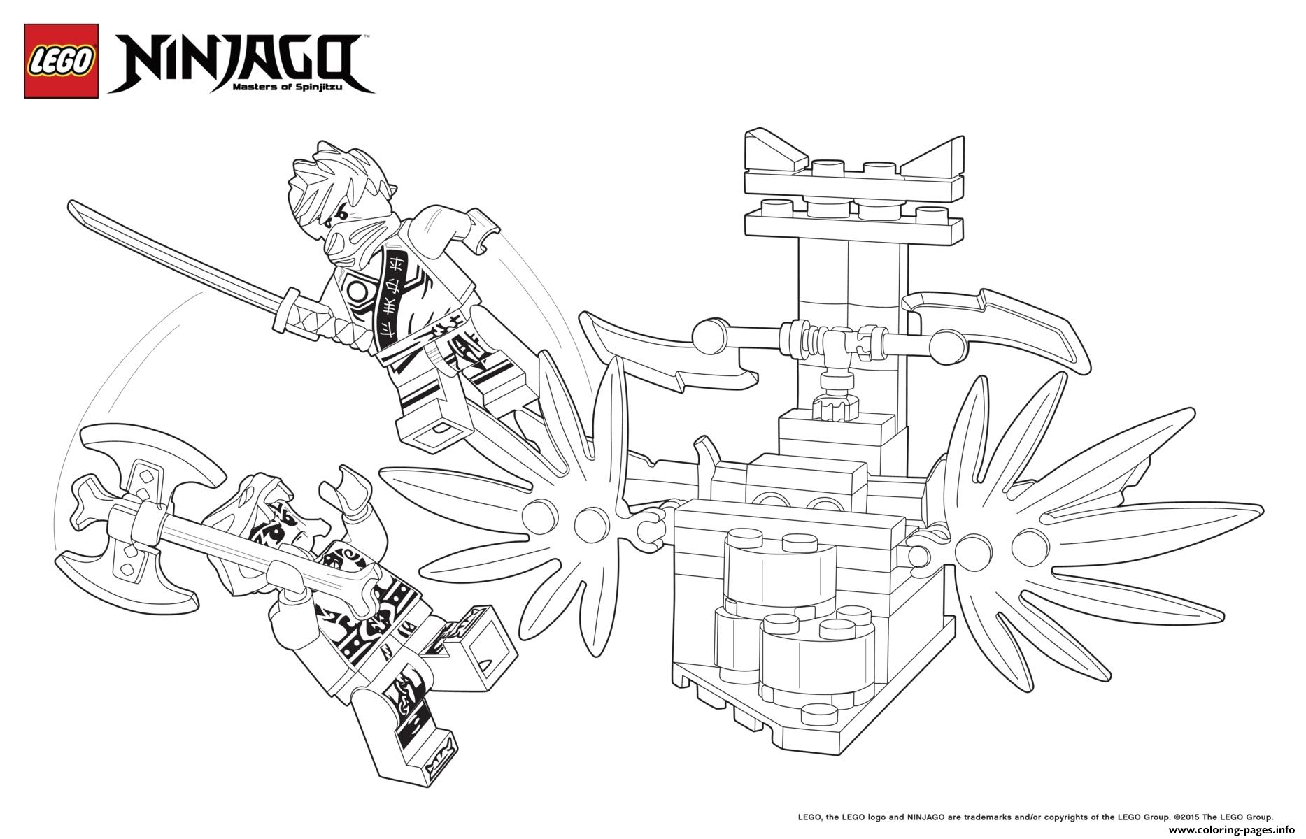 Battle Ninjas Lego Coloring Pages Printable
