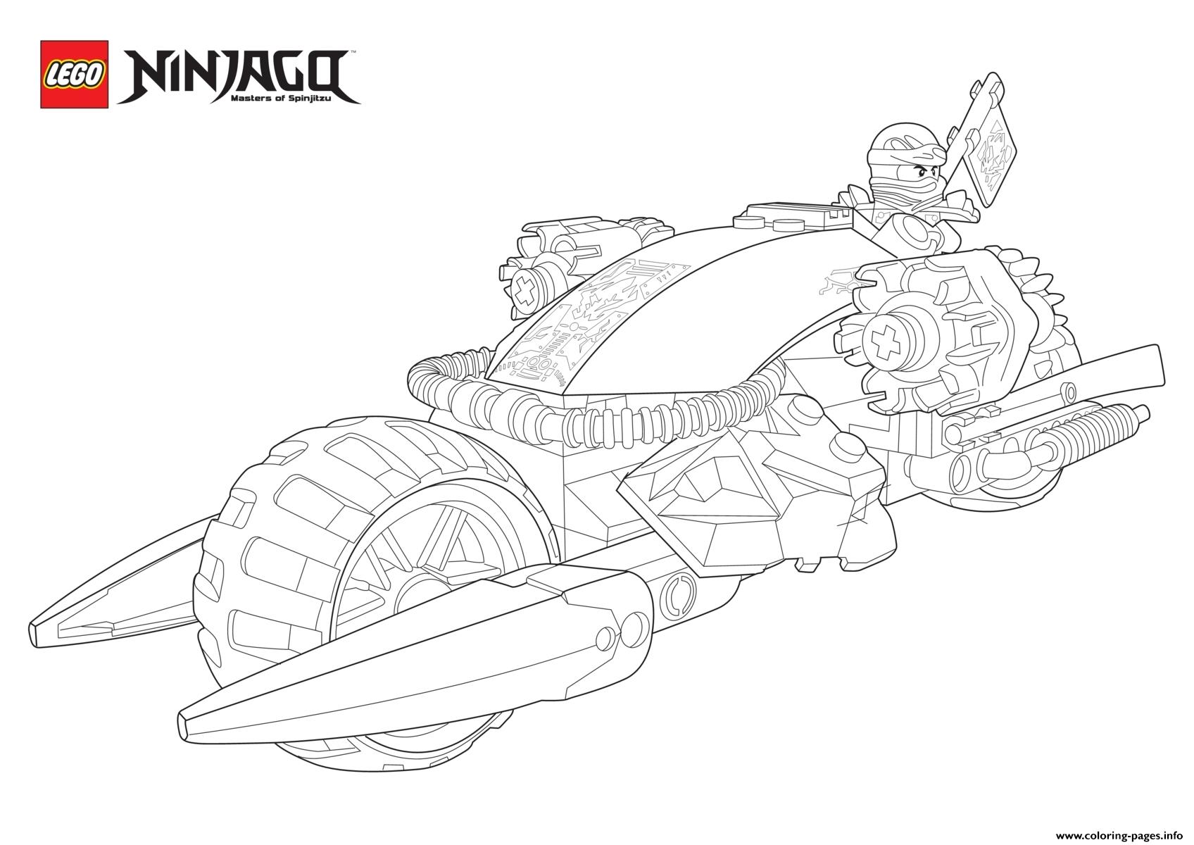 Ninjago Lego Drive Moto  coloring pages