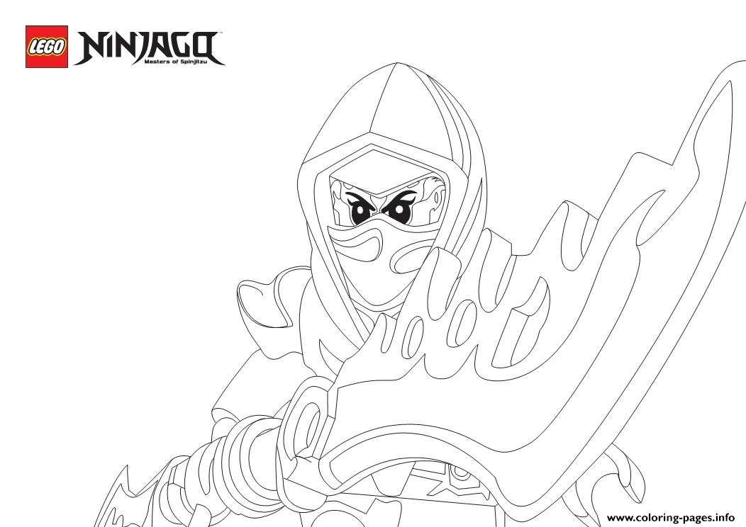 Picture Ninjago Angry coloring pages