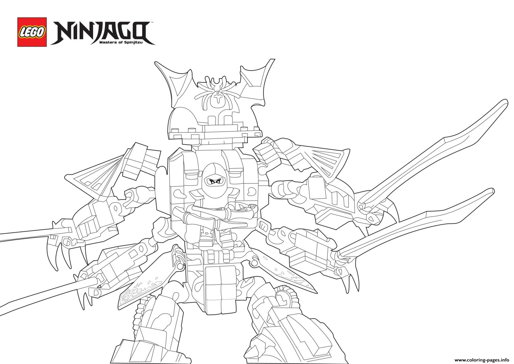Cyren Ninjago In Samurai Monster Coloring Pages Printable
