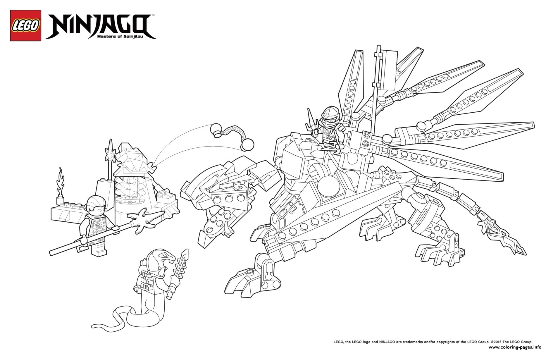 dragon ninja attack enemy lego coloring pages printable