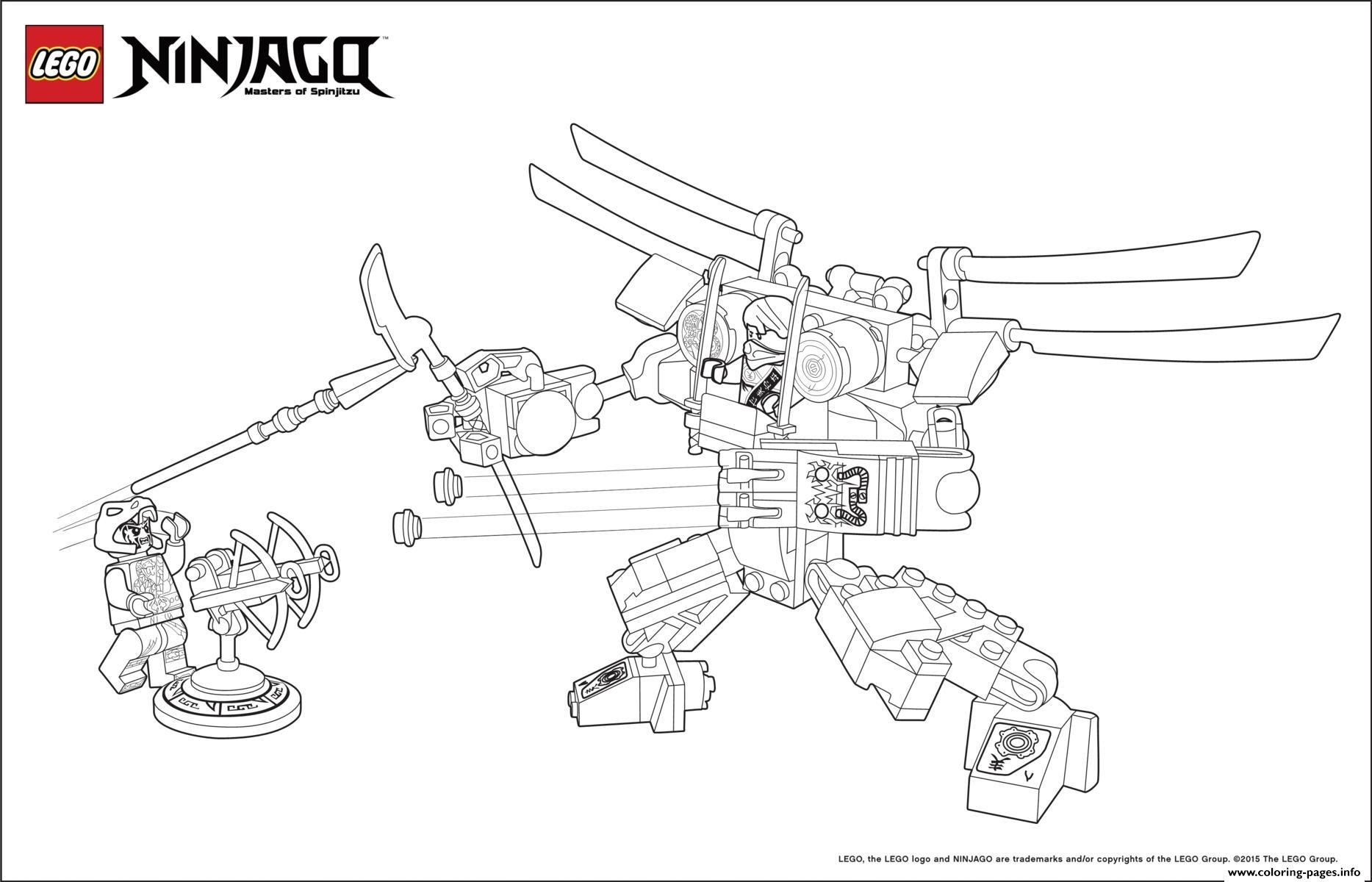 Ninjago Monster Vs Dogshank Coloring Pages