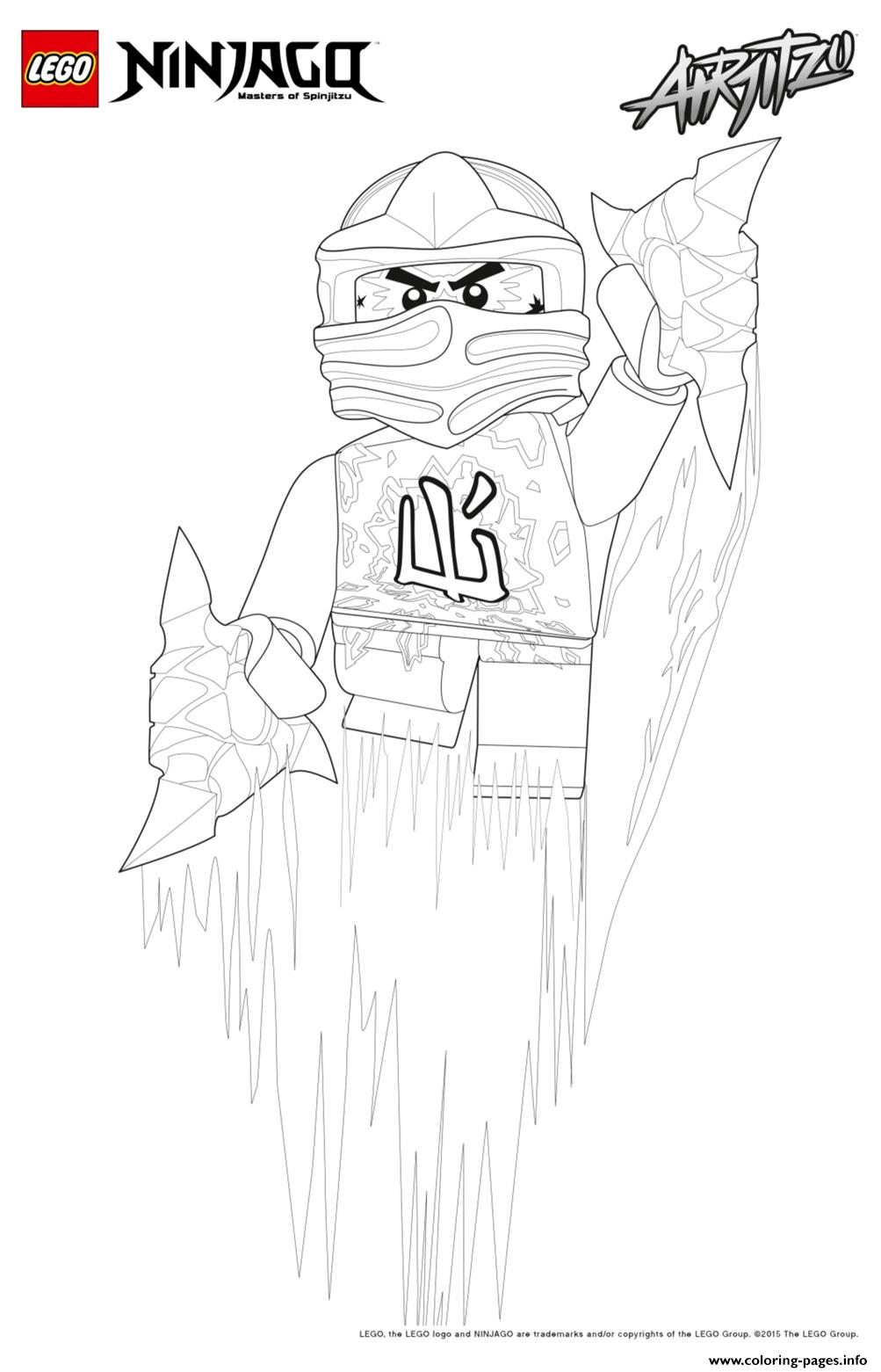 Cole Ninjago Jumped Up coloring pages