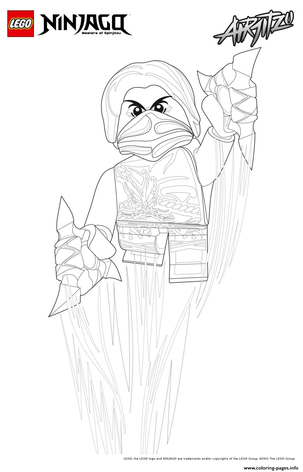 Kai Ninjago Lego Jump coloring pages