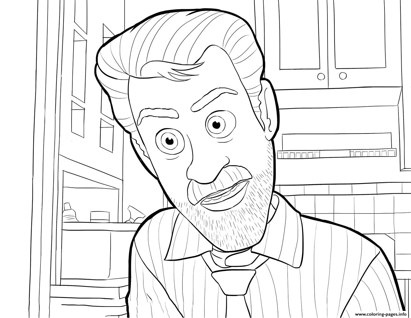 Riley Dad Inside Out Coloring Pages