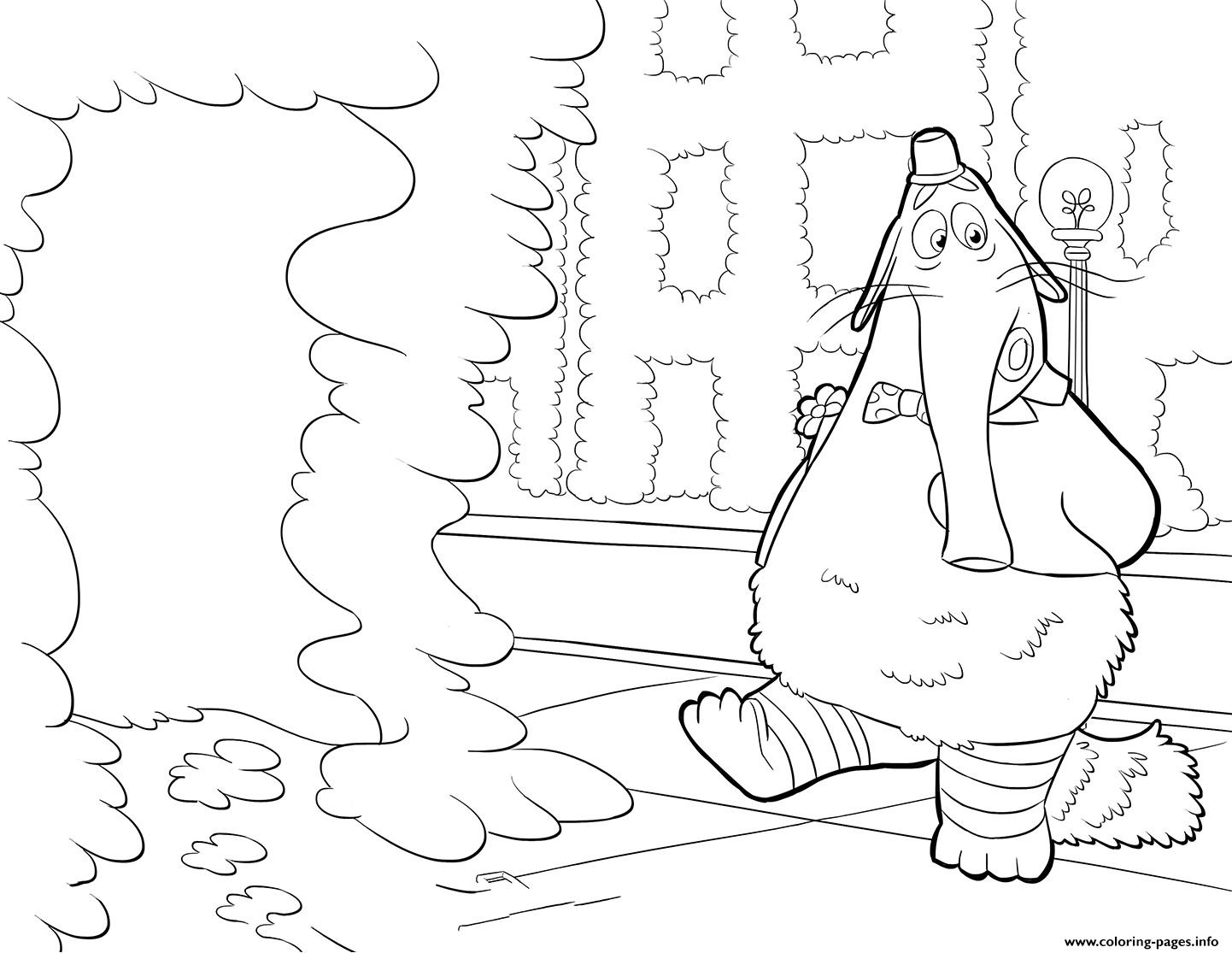 Bing Bong Inside Out Coloring Pages