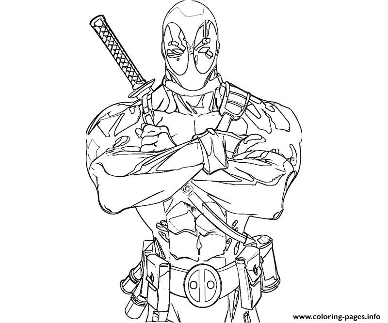 Deadpool Anti Hero Coloring Pages Printable