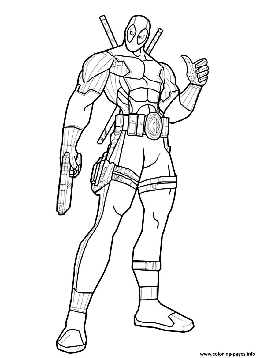 Deadpool Online Coloring Pages Printable
