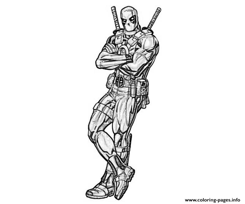 Deadpool Coloring Pages: Deadpool Drawing Coloring Pages Printable