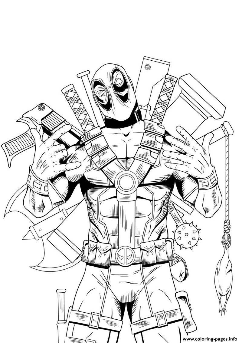 Deadpool Hight Quality Hd Coloring Pages