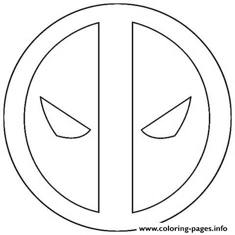 Logo Deadpool Simple Coloring Pages Printable