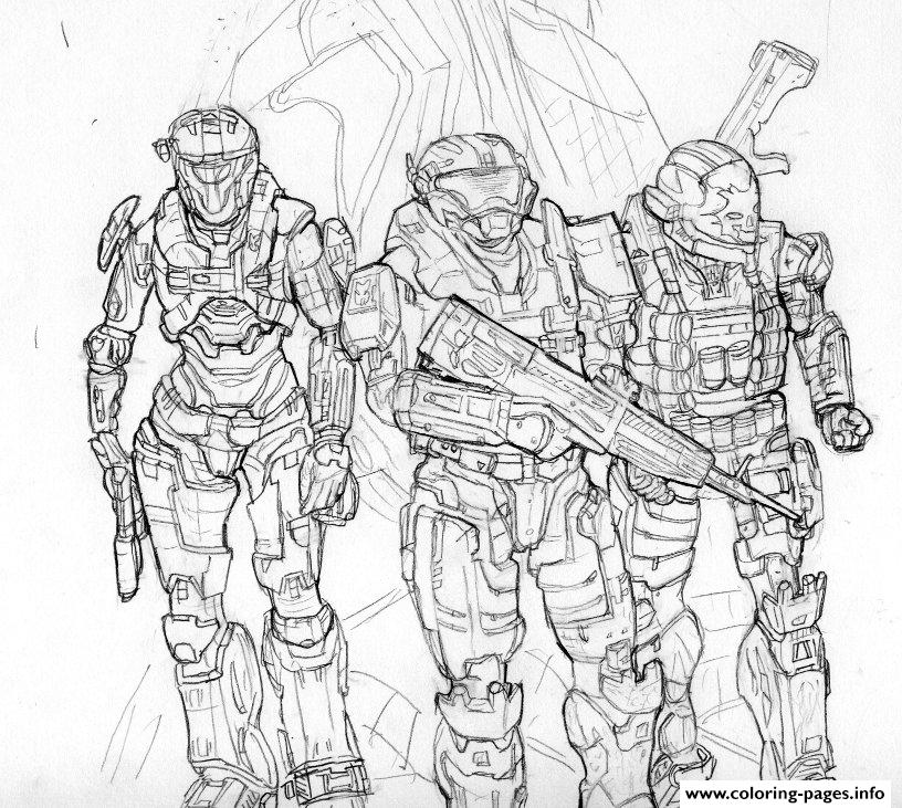 Fnaf 3 Colouring Pictures : Halo coloring pages free download printable