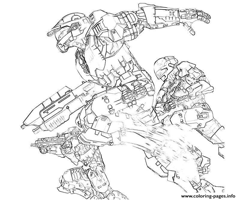 Halo 3 odst coloring pages printable for Halo 3 coloring pages