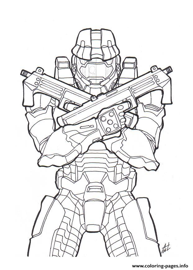 Halo Color coloring pages
