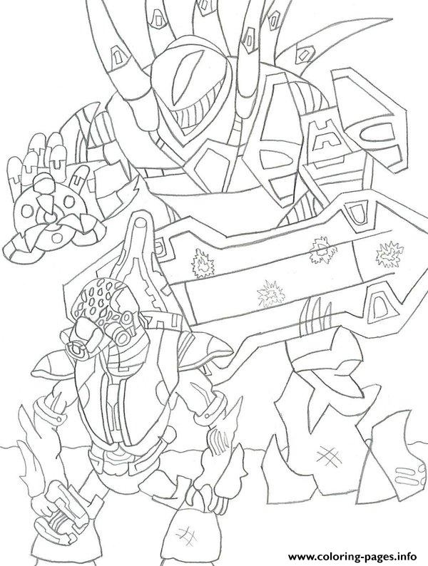 Halo 3 Coloring Pages Printable