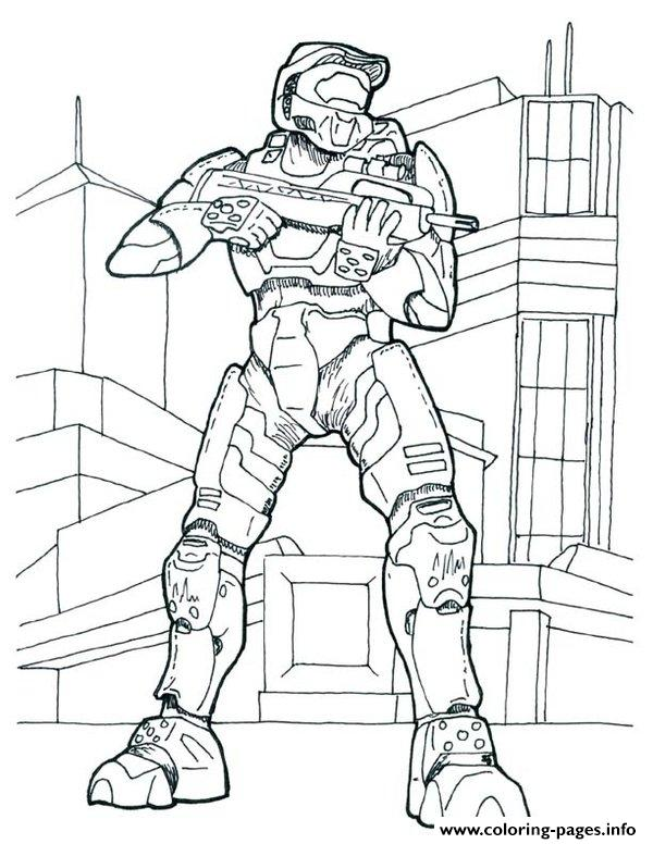Halo Coloring Pages Picture Printable