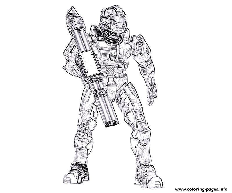 Halo Printable Coloring Pages