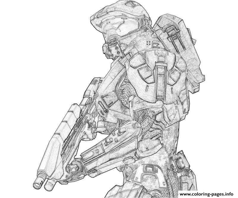 Halo 3 To Print Coloring Pages