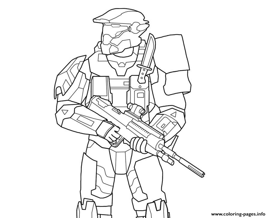halo 5 Coloring pages Printable