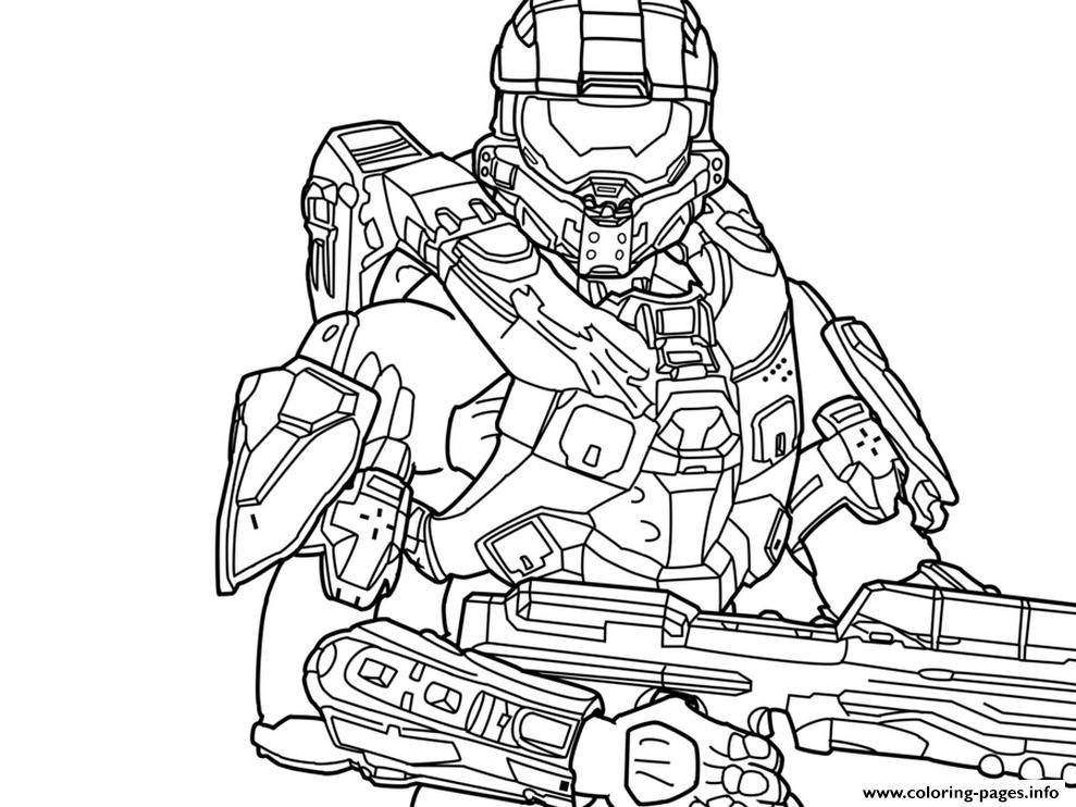 Halo 13 Free Coloring Pages Printable