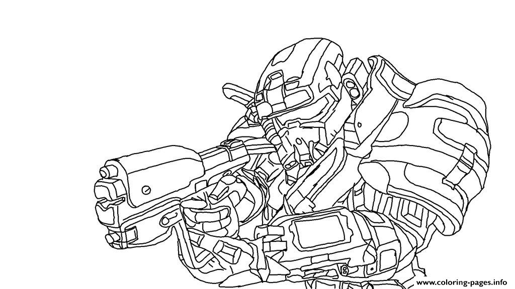 Halo Reach Spartan Coloring Pages Coloring Pages