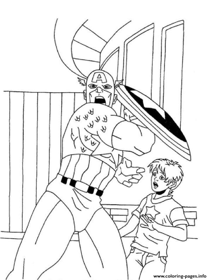 Superhero Captain America 133 coloring pages