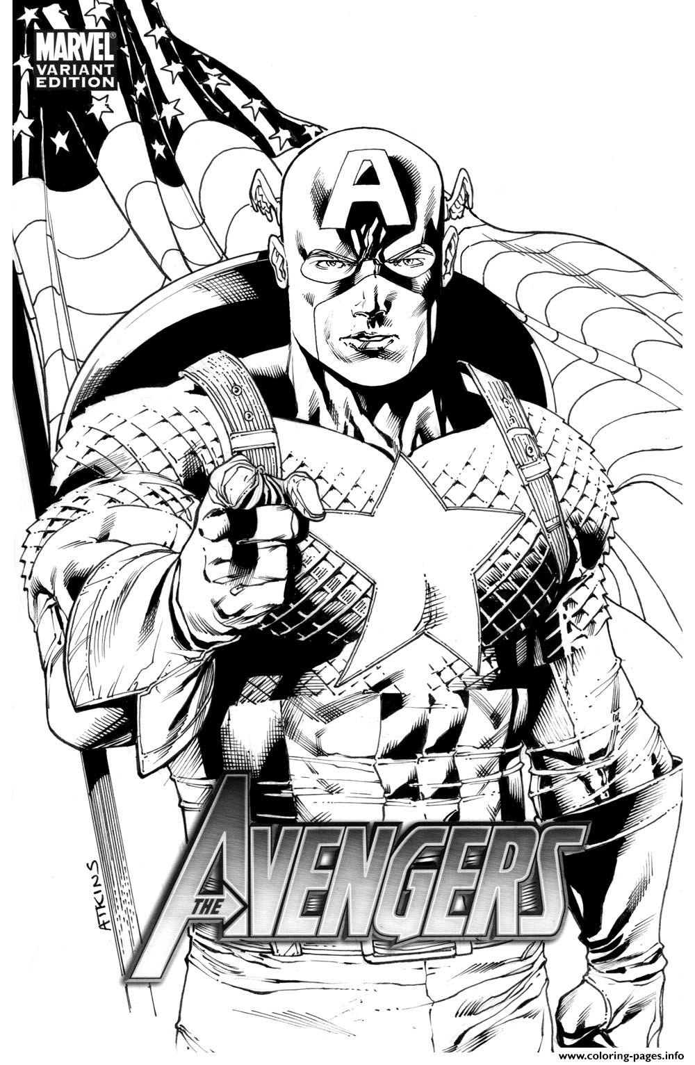 Avengers Captain America 274 coloring pages