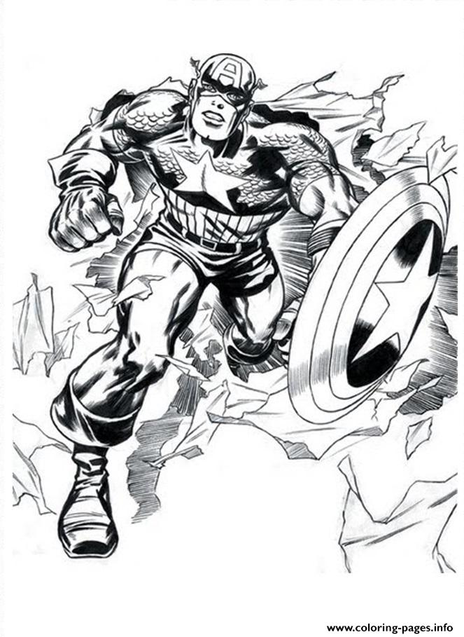 Superhero Captain America 147 coloring pages