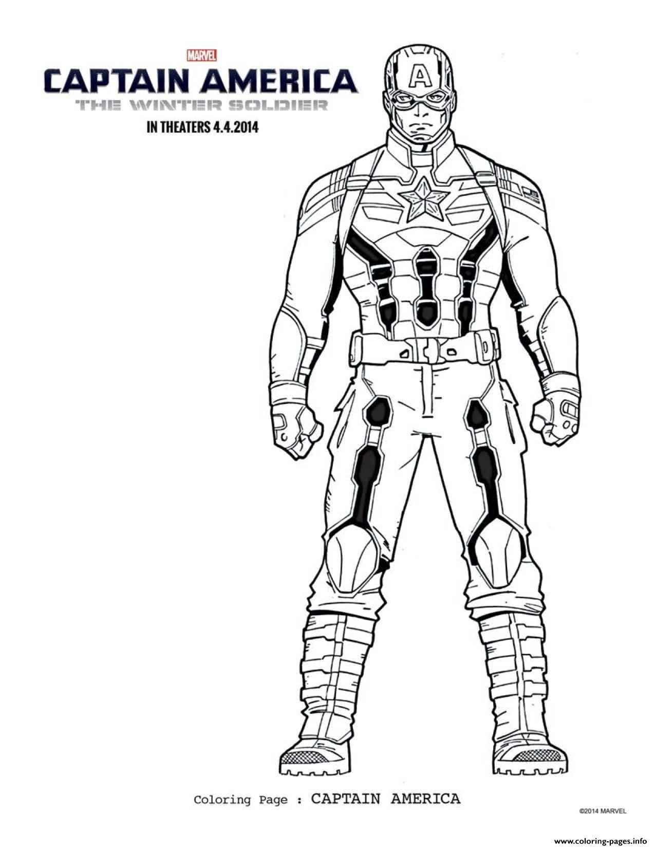 Superhero Captain America 67 coloring pages