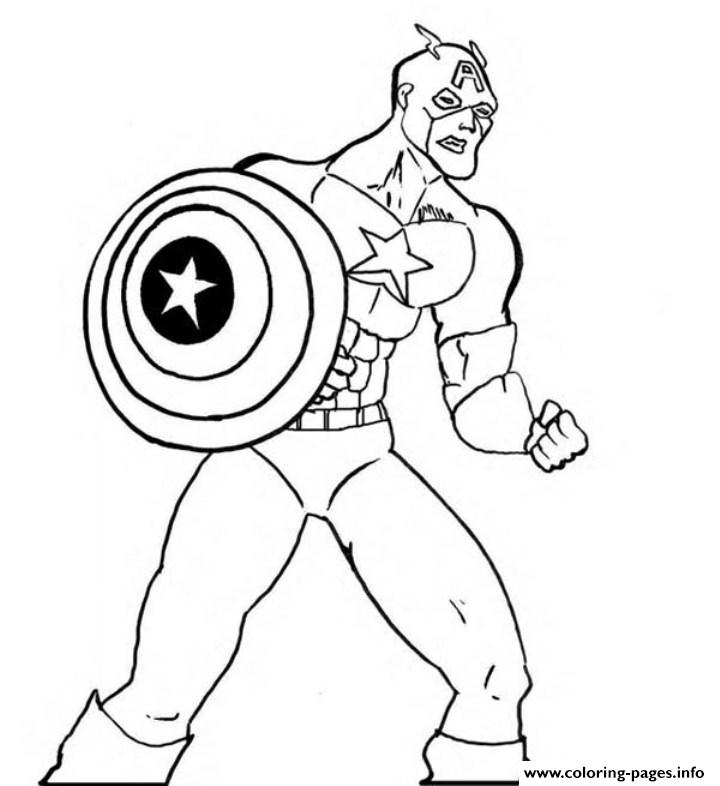 Superhero Captain America 171 coloring pages